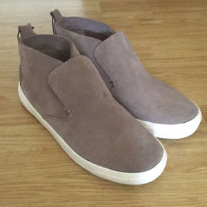 dv Dolce Vita SUEDE High-Top Sneakers, Taupe Brown